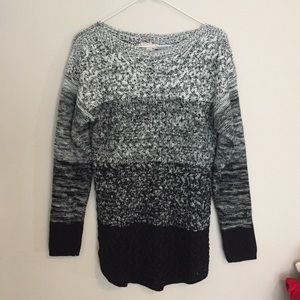 It's Our Time Black and Gray Ombré Sweater